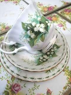 Royal Albert 1970 Flower of The Month (May) Trio Set