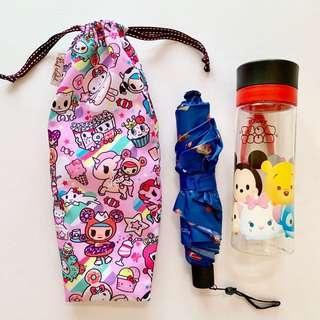 🚚 Umbrella/Bottle Wet bag , Water leak proof , washable , reusable , stylish and Eco-friendly ! Tokidoki