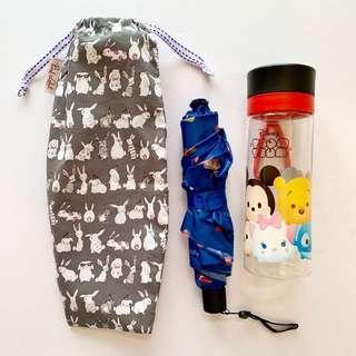 🚚 Umbrella/Bottle Wet bag , Water leak proof , washable , reusable , stylish and Eco-friendly ! Bunnies