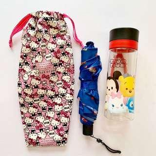 🚚 Umbrella/Bottle Wet bag , Water leak proof , washable , reusable , stylish and Eco-friendly ! Hello kitty