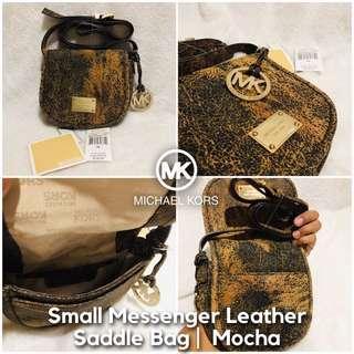 Michael Kors Sm Messenger Leather Saddle Bag