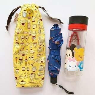 🚚 Umbrella/Bottle Wet bag , Water leak proof , washable , reusable , stylish and Eco-friendly ! Pom Pom Sanrio