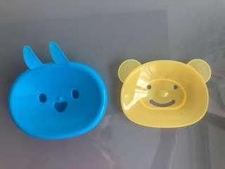 Cute rabbit / bunny and bear soap holder
