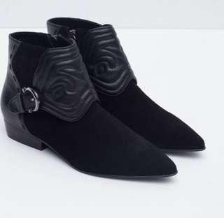 Leather ankle boots, size 38