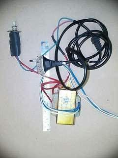 Mini Power Transformer with switch, cable and plug