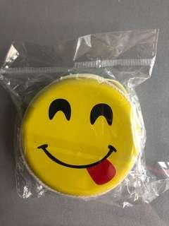 Cute smiley face coin pouch