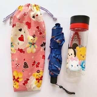 🚚 Umbrella/Bottle Wet bag , Water leak proof , washable , reusable , stylish and Eco-friendly ! Bear