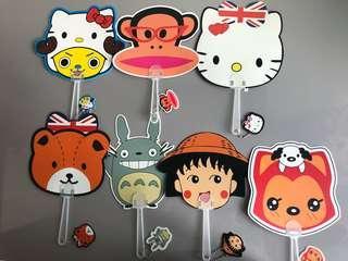 Cute plastic fans