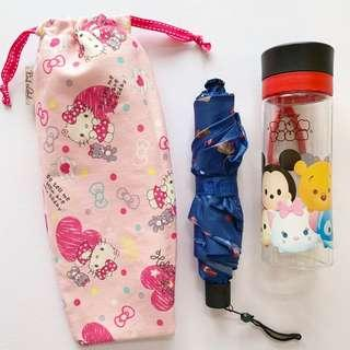 🚚 Umbrella/Bottle Wet bag , Water leak proof , washable , reusable , stylish and Eco-friendly ! Hello kitty Sanrio