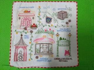 🚚 日本正貨 質感好♡收藏吉卜力美術館 精緻手帕
