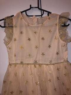 🚚 全新 110-125cm 粉色閃亮星星洋裝