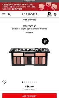 "Kat Von D ""Shade and Light"" eye contour palette"