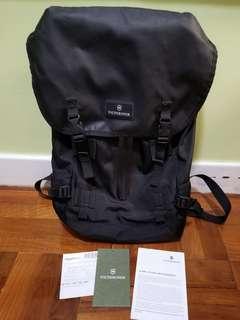80% new Victorinox Slim Flapover Drawstring Laptop Backpack