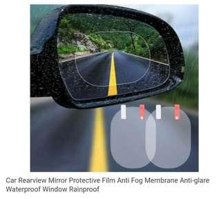 Car Rearview Mirror Protective Film Anti Fog Membrane Anti-glare Waterproof Window Rainproof