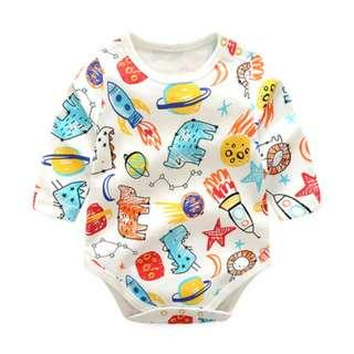 🚚 Colorful Pencil Sketch Print Baby Romper/Bodysuits (NCR040)