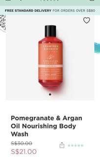 🚚 Crabtree & Evelyn Promogranate & Argan Oil Nourishing Body wash
