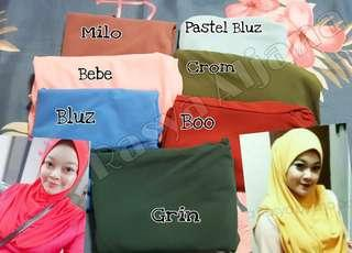 🚚 Instant hijab plain or floral