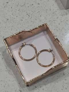 Rose Gold (PLATED) Small Hoop Earrings
