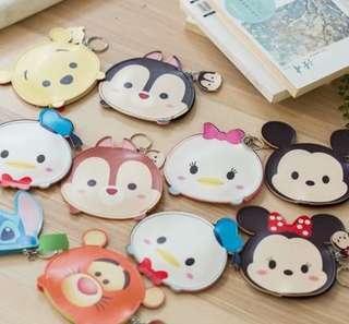 Disney Tsum Tsum 瑪麗貓 唐老鴨黛西 marie mickey 零錢包 硬幣包 鑰匙包