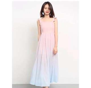 26cfba7c24 🌷(PO) Fairytale Flutters Ombre Maxi Dress