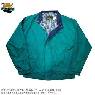 古著美製東京選品內襯條紋防曬外套