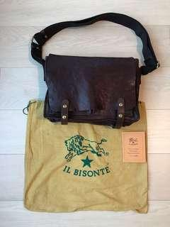 ILBISONTE Il Bisonte Italy made 義大利意大利製真皮袋real leather