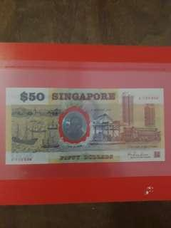 25years independence commemorative $50 note