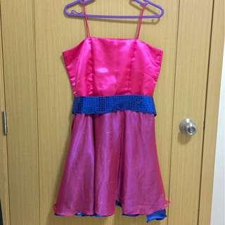 ❗️REPRICED FROM P700❗️Fuchsia Pink String Strap Cocktail Dress
