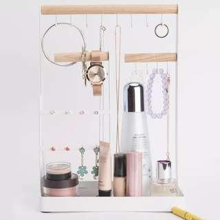 🚚 Wooden Style Makeup Jewelry Organizer
