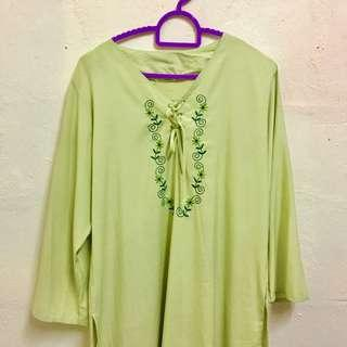LIME GREEN BLOUSE #MFEB20