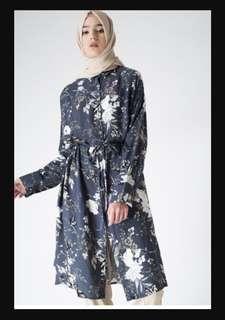 Aleza flower long shirt