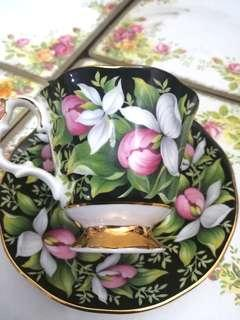 1975 Royal Albert Provincial Flowers Lady's Slipper Cup and Saucer Set