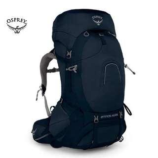 OSPREY ATMOS AG™️ 65 BACKPACK | HAVERSACK | THRU  - HIKING  | RAIN COVER Color : UNITY BLUE