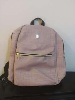 Ulzzang pink bagpack
