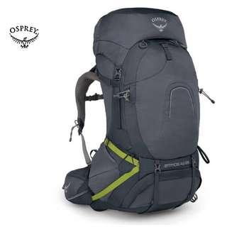 OSPREY ATMOS AG™️ 65 BACKPACK | HAVERSACK | THRU  - HIKING  | RAIN COVER Color : ABYSS GREY