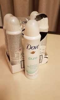 Dove Pure anti-perspirant deodorant x 4 bottles Nivea