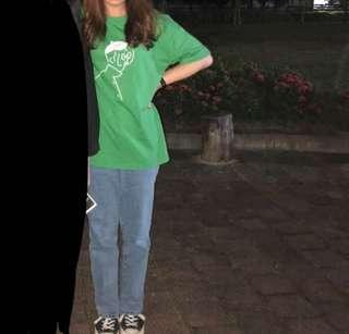 Oversized 綠T恤