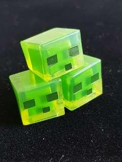 🚚 Minecraft Figurines: Slime chunk, Slenderman, Spider in Cage