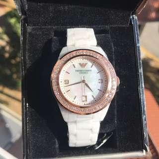 🚚 Ladies Emporio Armani Ceramic Watch AR1472