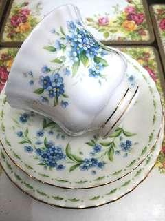 1970 Royal Albert Flower of The Month (July) Trio Set