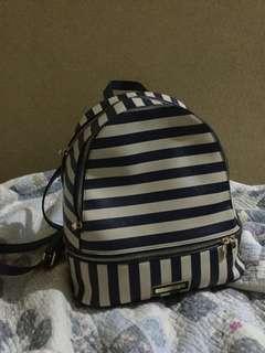 Colette dark blue stripe backpack