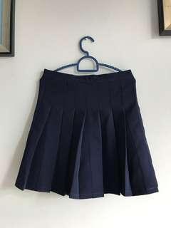 (New) Tennis Skirt-Navy #MFEB20