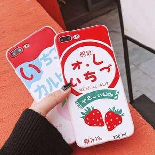 🚚 meijistrawberry milk iphone cases