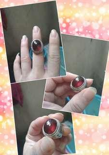 Batu red garnet uk ring 8/9 steinlis