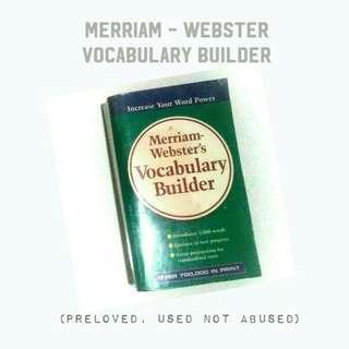 Sale! ₱180! Merriam-Webster Vocabulary Builder