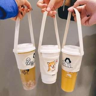 ExtEco Take Away Milk Bubble Tea Drink Tote Carrier Cup Bag Sleeves