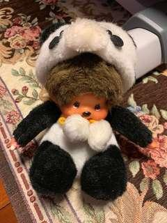 Monchhichi doll in Panda suit 公仔 熊貓