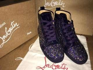 💯 AUTHENTIC Christian Louboutin Shoes- Purple Pop Strass