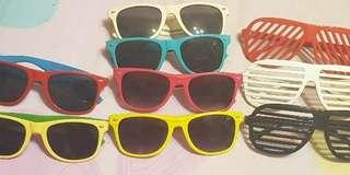 Sunglasses and shutter shades- perfect for costume parties