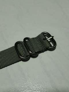 20mm Grey Zulu Strap (3 rings)